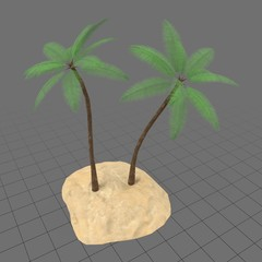 Palm trees on small island