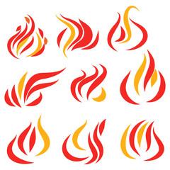 Flames set icon