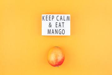 Mango fruit in creative composition