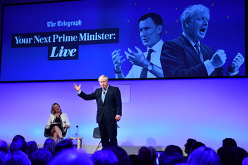 Conservative leadership candidates Boris Johnson and Jeremy Hunt attend a Telegraph Q&A event in London