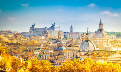skyline of Rome, Italy Fotomurales