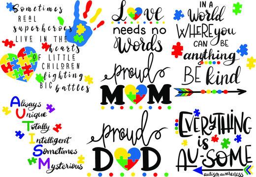 Autistic quotes decoration for T-shirt
