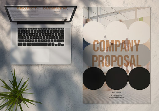Project Proposal Layout with Circle Background