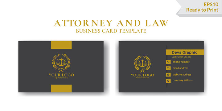 Luxury Law business card design template