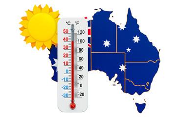 Heat in Australia concept. 3D rendering