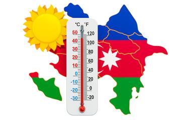 Heat in Azerbaijan concept. 3D rendering