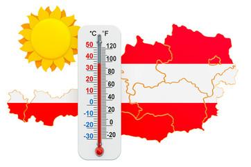 Heat in Austria concept. 3D rendering