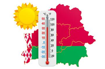 Heat in Belarus concept. 3D rendering