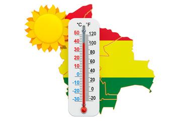 Heat in Bolivia concept. 3D rendering