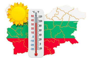 Heat in Bulgaria concept. 3D rendering