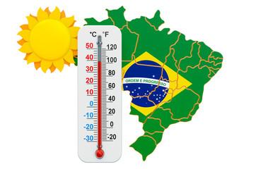 Heat in Brazil concept. 3D rendering