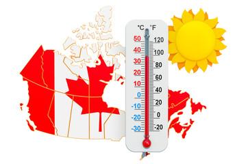 Heat in Canada concept. 3D rendering