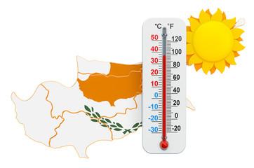 Heat in Cyprus concept. 3D rendering