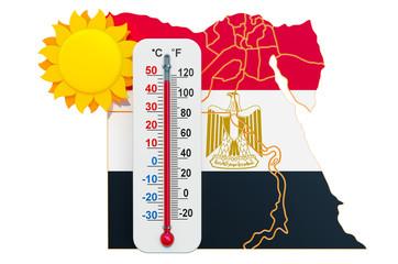 Heat in Egypt concept. 3D rendering