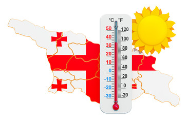 Heat in Georgia concept. 3D rendering