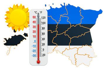 Heat in Estonia concept. 3D rendering