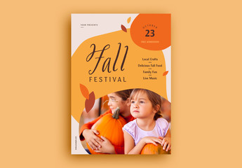 Fall Festival Flyer Layout with Image Placeholder