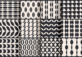 Black and White Patterns Set