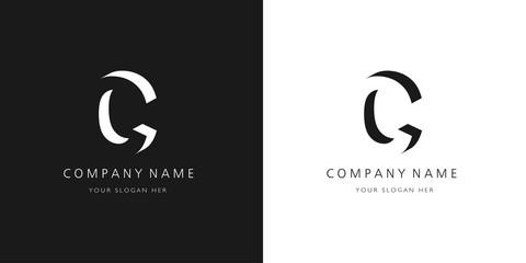 c logo, modern design letter character