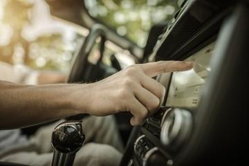 Listening Radio Music in Car