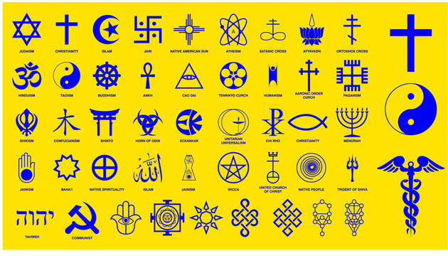 world religion symbols signs of major religious groups and other religions   isolated. easy to modify