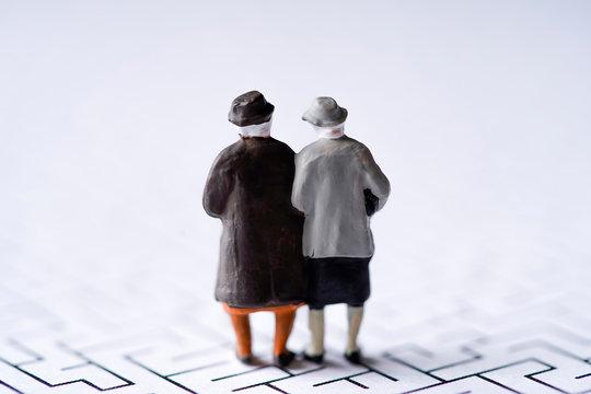 迷路・ミニチュア・高齢夫婦