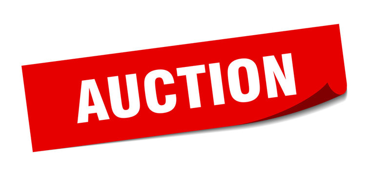 auction sticker. auction square isolated sign. auction