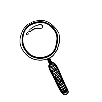 search icon tools doodle in handdrawn style vector