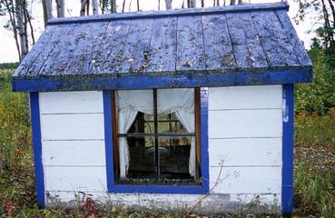 Indianische Grabstädte in Big Salmon Village, Yukon, Kanada