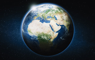 Wall Mural - Europe and Africa planet Earth globe