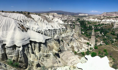 valley landscapes and fairy chimneys in cappadocia