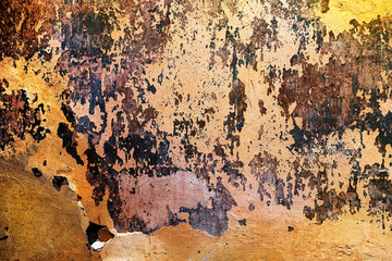 Wall Mural - Old weathered wall background