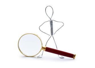 Man Near Magnifying Glass