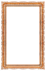Extra big vertical picture frame with empty background copy space - Stock image