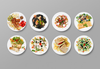 Top View of Plates Art Kit