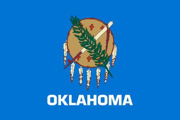 Oklahoma state flag. Vector illustration