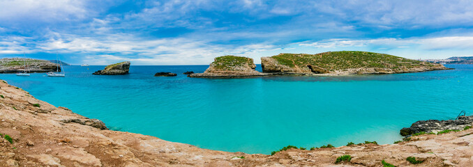 The Blue Lagoon on Comino Island, Malta Gozo.