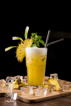 Food shoot of a Bahama Mama Cocktail