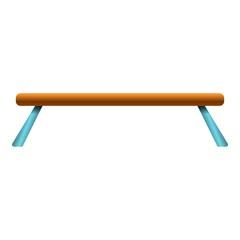 Balance beam icon. Cartoon of balance beam vector icon for web design isolated on white background