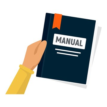User manual icon. Flat illustration of user manual vector icon for web design