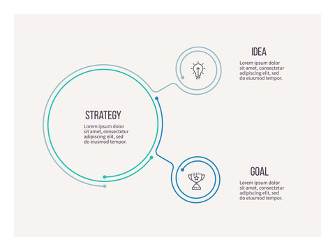 Business infographic. Organization chart with 2 options. Vector template.