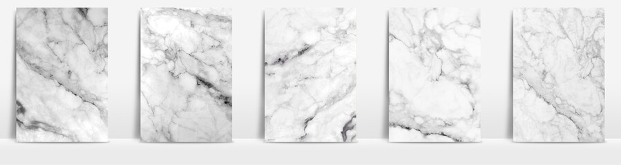 Lamas personalizadas con tu foto Marble collection abstract pattern texture white and grey background.