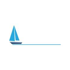 Sailing boat icon symbol logo