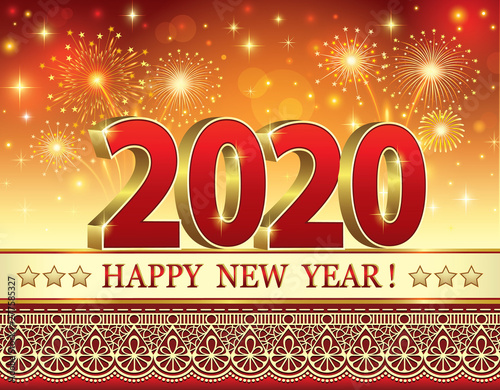 Merry Christmas Images 2020.Happy New Year And Merry Christmas 2020 Festive Background