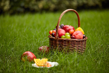 basket of assorted fruits
