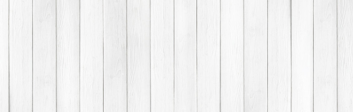 Wooden rustic white planks texture wide background