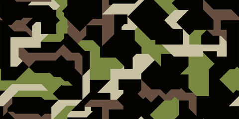 Vector modern military camouflage illustration. Pattern fot car decal wrap design vector