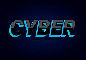 Dark Futuristic Cyber Text Effect