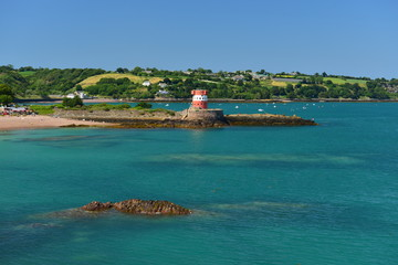St Catherines Bay, Jersey, U.K. Picturesque Summer bay.