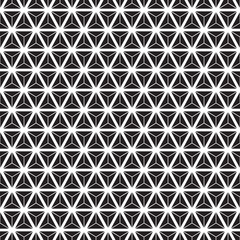 Seamless abstract geometric triangle form facet pattern.